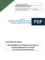Pr-se.ee-2.6.Hm-hu-00xx Procedimiento de Pruebas Electricas a Transformadores de Tension