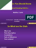 Slides Five Stats to Know 2014-04-04 Slides
