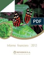Informe Financiero 2012