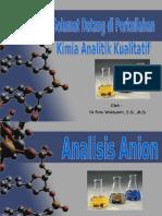 Analisis Anion (Bu Wida)