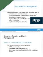 R MOD 01-Unisphere Security and Basic Management