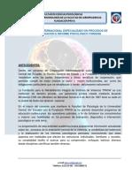 Curso Internacional Especializado en Procesos de Evaluación e Informe Psicológico Forense