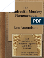 The Hundredth Monkey Phenomenon