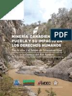 Minería canadiense en Puebla y su impacto en los derechos humanos