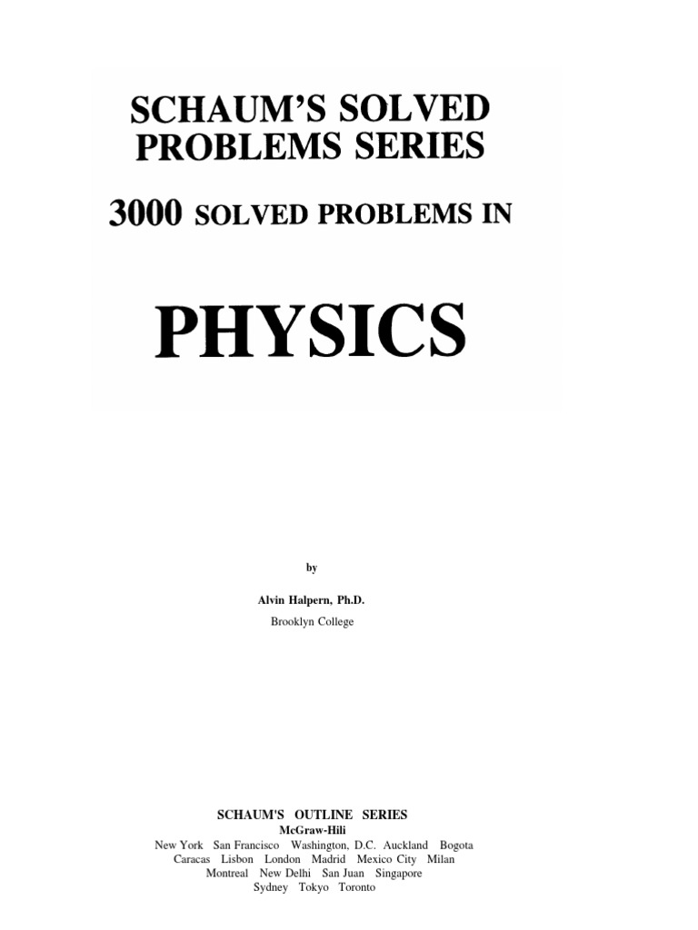 solved problems in physics euclidean vector optics