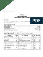 NTE823 datasheet