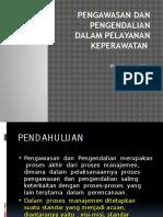 Pengawasan Dan Pengendalian Dalam Pelayanan Keperawatan
