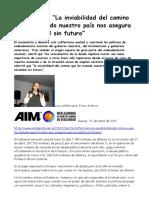 2017-04-27 Lafferriere La Inviabilidad Del Camino Que Ha Tomado Nuestro País Nos Asegura Una Sociedad Sin Futuro