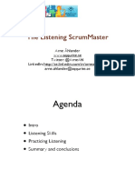 The Listening Scrum Master
