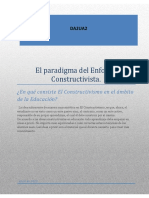 El Paradigma Constructivista