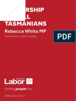 Leadership for All Tasmanians
