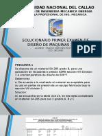 Solucionario Examen 1 - Ciclo 2017v - Diseño de Maquinas