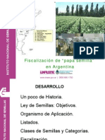 "Fiscalización de ""papa semilla"" en Argentina"