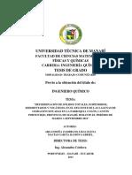 Determinacion de Solidos Totales, Suspendidos, Sedimentados y Volatiles