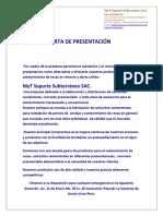 Presentacion Myt Soporte Subterraneo Sac.