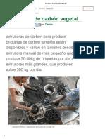 Extrusoras de Carbón _ ARTI Energía