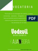Convocatoria Vodevil Kaja