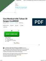 Cara Membuat Efek Tulisan 3D Dengan CorelDRAW - TRIKMUDAHPHOTOSHOP