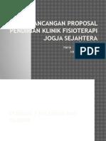 Rancangan Proposal Pendirian Klinik Fisioterapi Jogja Sejahtera