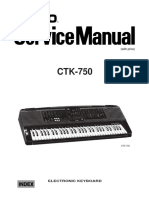 Casio CTK-750 Service Manual