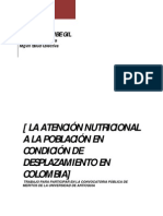 Atención Nutricional a la Población en Condición de Desplazamiento