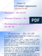 Process -Summon and Warrant