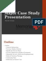 memorial major case study presentation