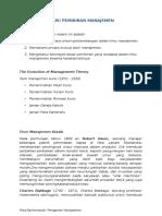 Modul 2 - Evolusi Pemikiran Manajemen (1)