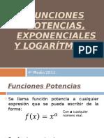Funciones Potencias, Logarítmicas y Exponenciales (1)