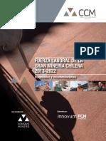 Fundación Chile. Fuerza Laboral de La Gran Minería Chilena. 2013-2022. 2013