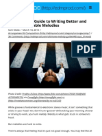 The Ultimate Guide to Writing Better and More Memorable Melodies