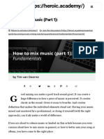 Mixing Guide - How to Mix Music (Part 1)