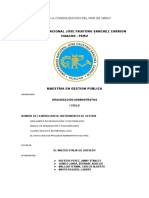 Monografia ROF - Organizacion Administrativa