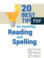 20 Tips for Teaching Reading and Spelling