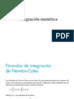 1.1 Integracion Numérica