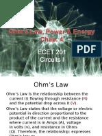Chap4 Ohms Law Power Energy