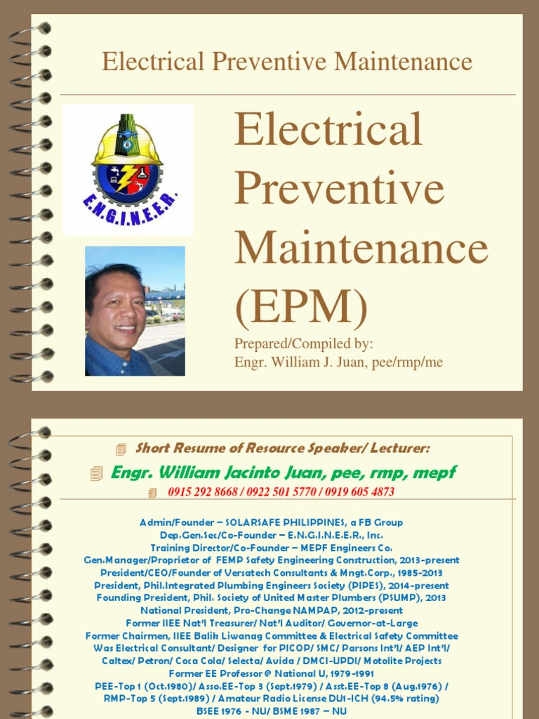 Elec Preventive Maint 2015 ppt | Electrical Substation | High Voltage