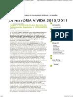 Origen y Desarrollo de Los Pueblos de Colonización Españoles y EXTREMEÑOS. _ La Historia Vivida 2010_2011