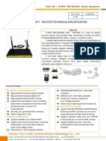 F7436 GPS+WCDMA WIFI ROUTER SPECIFICATION