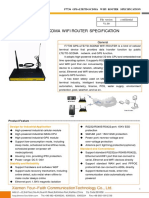 F7736 GPS+LTE&TD-SCDMA WIFI ROUTER SPECIFICATION