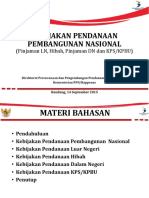 Kebijakan Pendanaan Pembangunan Nasional 2015-2019, 14 Sep'2015