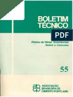 BOLETIM TECNICO - EFEITOS DE VARIAS SUBSTANCIAS SOBRE O CONCRETO - ABCP.pdf
