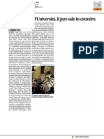 Jam session all'Università, il jazz sale in cattedra - Il Corriere Adriatico del 27 aprile 2017