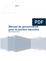 Manuel de Gouvernance Pour Le Secteur Bancaire