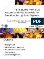 Comparing Features from ECG Pattern and HRV Analysis for Emotion Recognition System