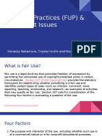 fair use practices  fup    copyright issues