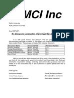mci inc design package backup