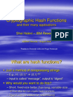 Cryptographic Hash Functions