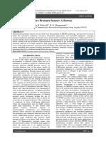 MEMS Piezoresistive Pressure Sensor a Su