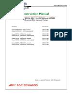 Edwards Vacuum Pump EDP Dry Pump Instruction Manual